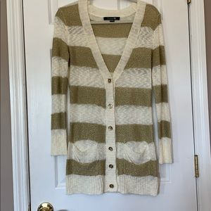 Gold and white cardigan